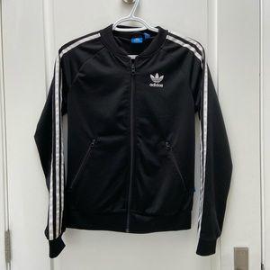 Adidas track jacket size xs black